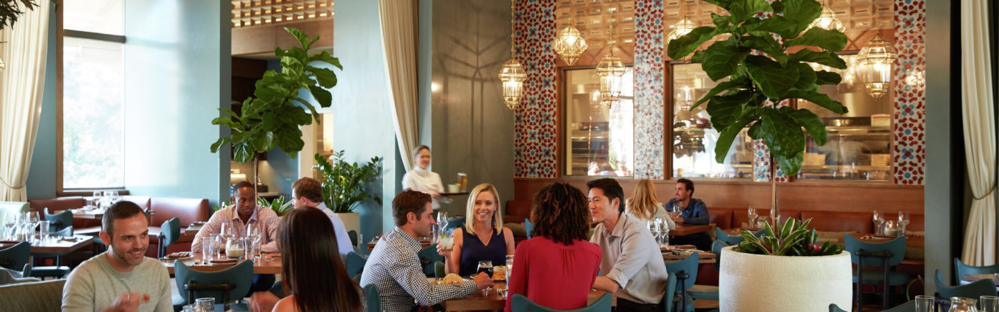 Photography of diners at Red O at The Plaza, 4340 La Jolla Village Drive, San Diego, CA