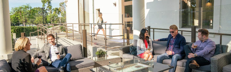 Lifestyle photography of Irvine Towers - Davio's Northern Italian Steakhouse in Irvine, CA